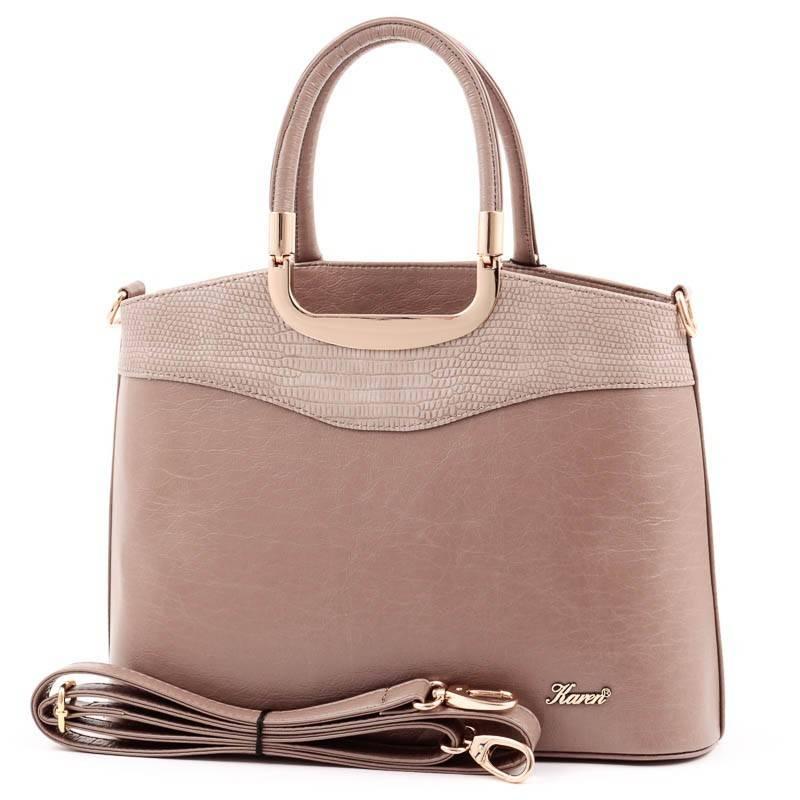 e0b3628c4d7d Karen barna merev falú női rostbőr táska #3664