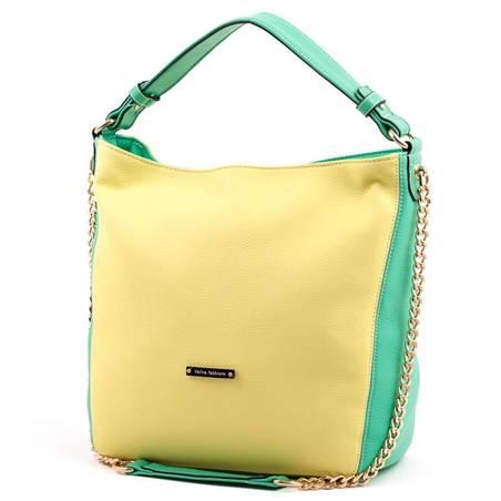 Velina Fabbiano sárga-zöld divatos női táska
