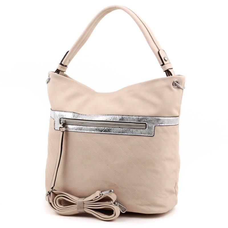 MAI MAX bézs-ezüst női táska