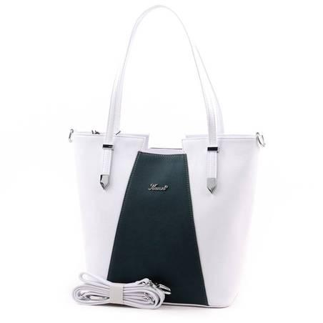 Karen fehér-olajzöld rostbőr női táska