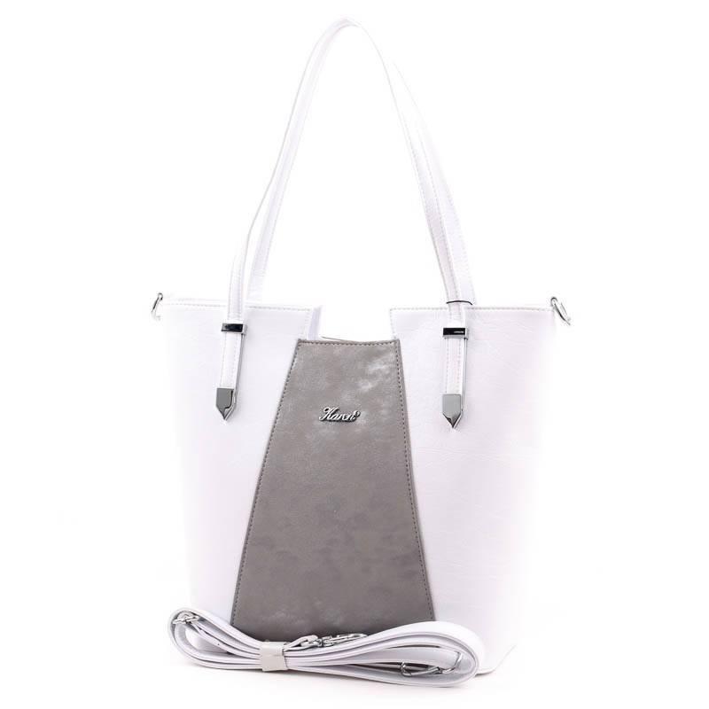 f0115bf291e0 Karen fehér-ezüst rostbőr női táska #3676