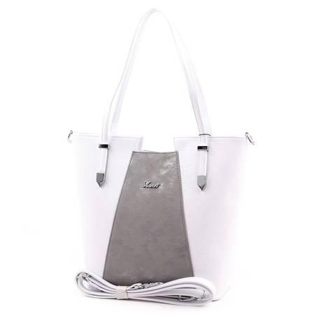 Karen fehér-ezüst rostbőr női táska