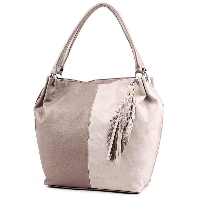 55a13bb32b6e Chiara bronz-bézs rostbőr női táska #3680