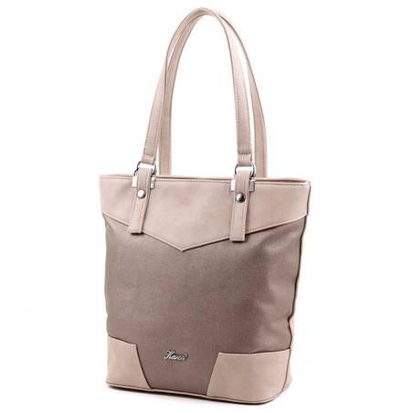 Karen kávébarna-bronz rostbőr női táska