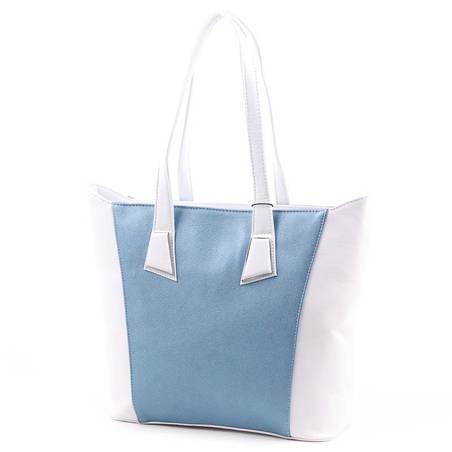 Karen fehér-kék rostbőr női táska