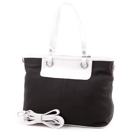 Karen fekete-fehér rostbőr női táska