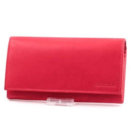 La Scala piros női bőr pénztárca
