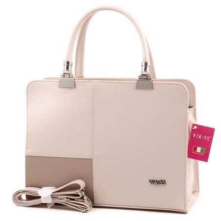 Via55 bézs rostbőr női táska