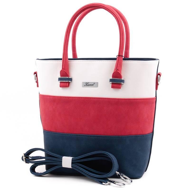 Karen kék-piros-fehér rostbőr női táska  3853 930b53ff23