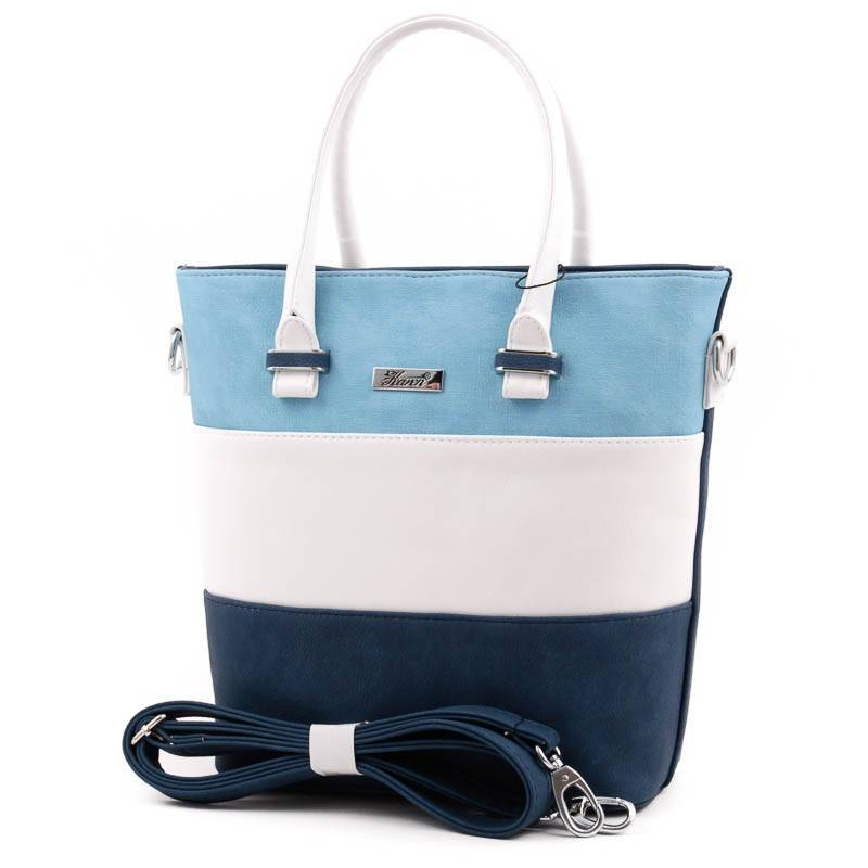Karen kék-fehér rostbőr női táska  3854 175ee0a0b0