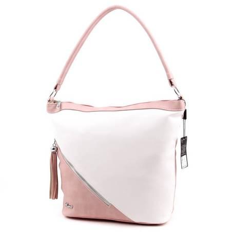 Karen púder-fehér rostbőr női táska