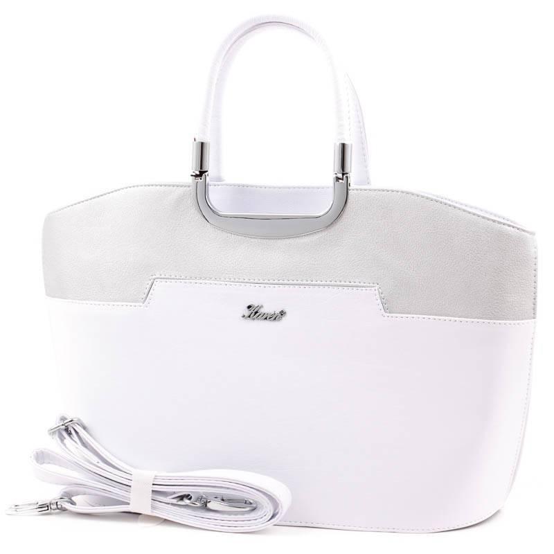 f4b11aa61a51 ... Karen fehér-ezüst merev falú női rostbőr táska. További 3 színben  elérhető >>>