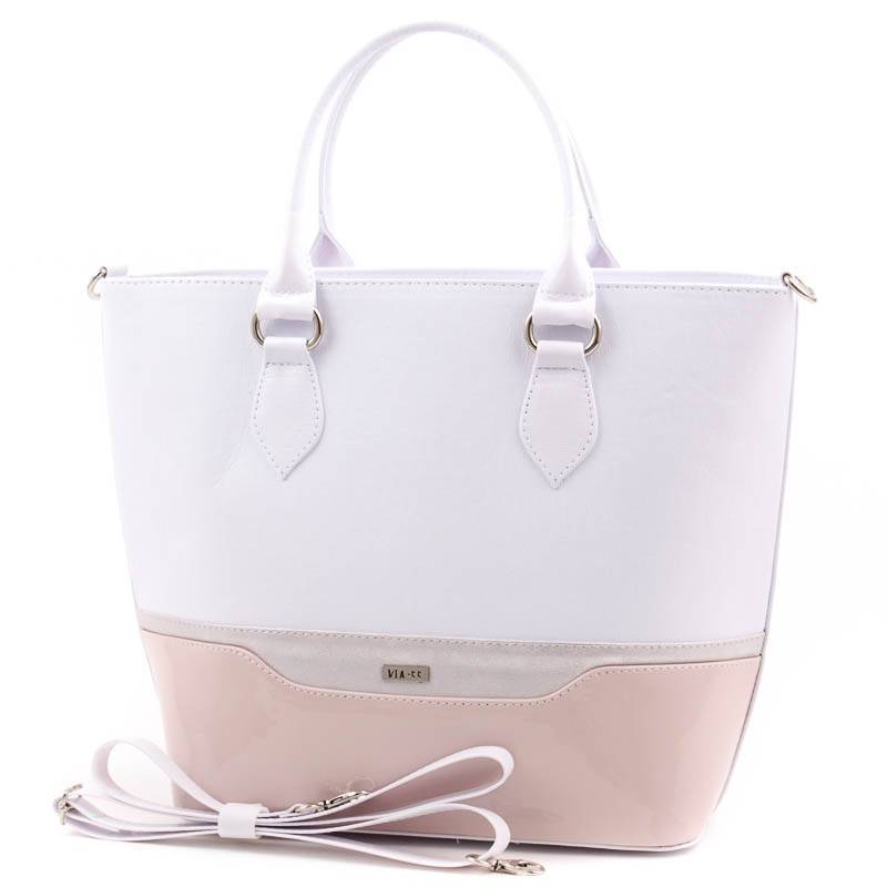 Via55 fehér-púder rostbőr női táska  3893 c4cc736465