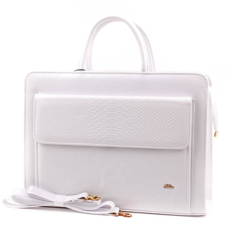 Diva Collection fehér női rostbőr aktatáska  3900 69f24a1066