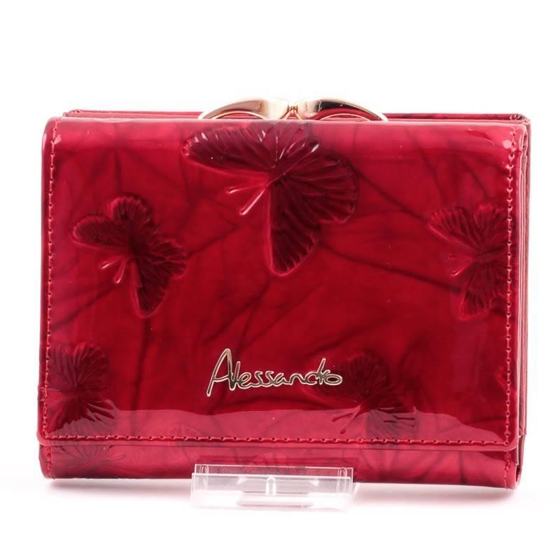 19795d9f210e Alessandro Paoli piros lepkés női bőr pénztárca #3880