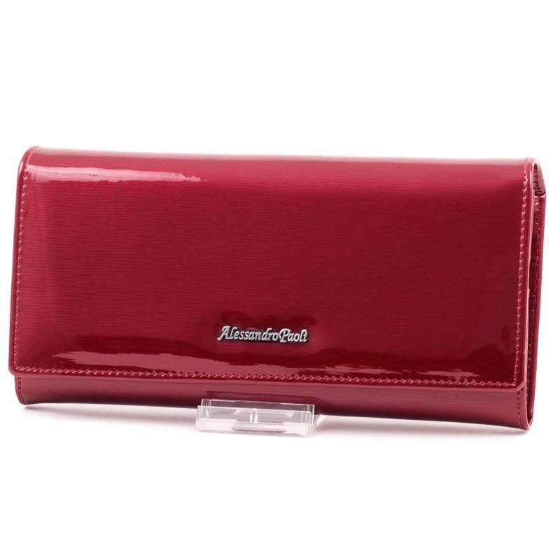 Alessandro Paoli piros női bőr pénztárca