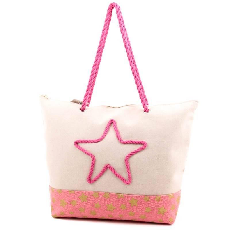 Bellugio pink vászon strandtáska