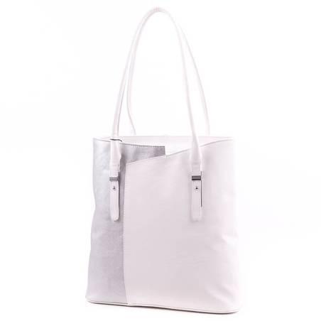 Karen fehér-ezüst női rostbőr táska