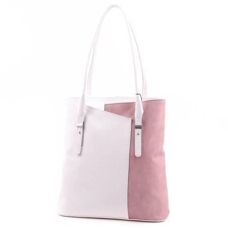 Karen fehér-púder női rostbőr táska