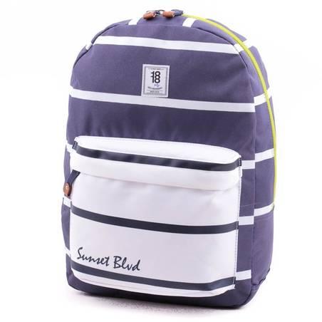 Chenson kék-fehér laptoptartós hátizsák