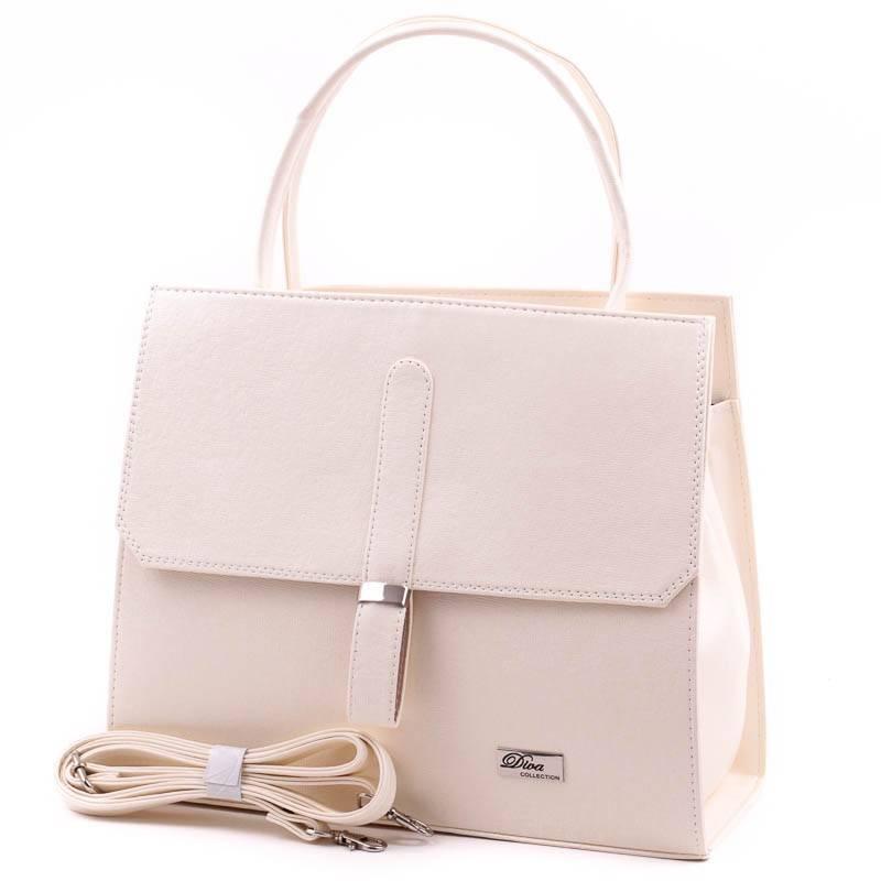 Diva Collection bézs női rostbőr táska