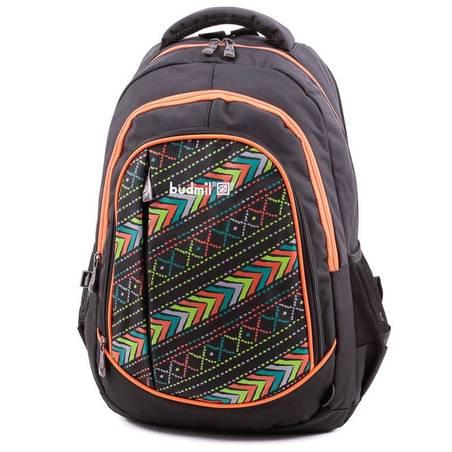 Budmil fekete-narancs mintás hátizsák