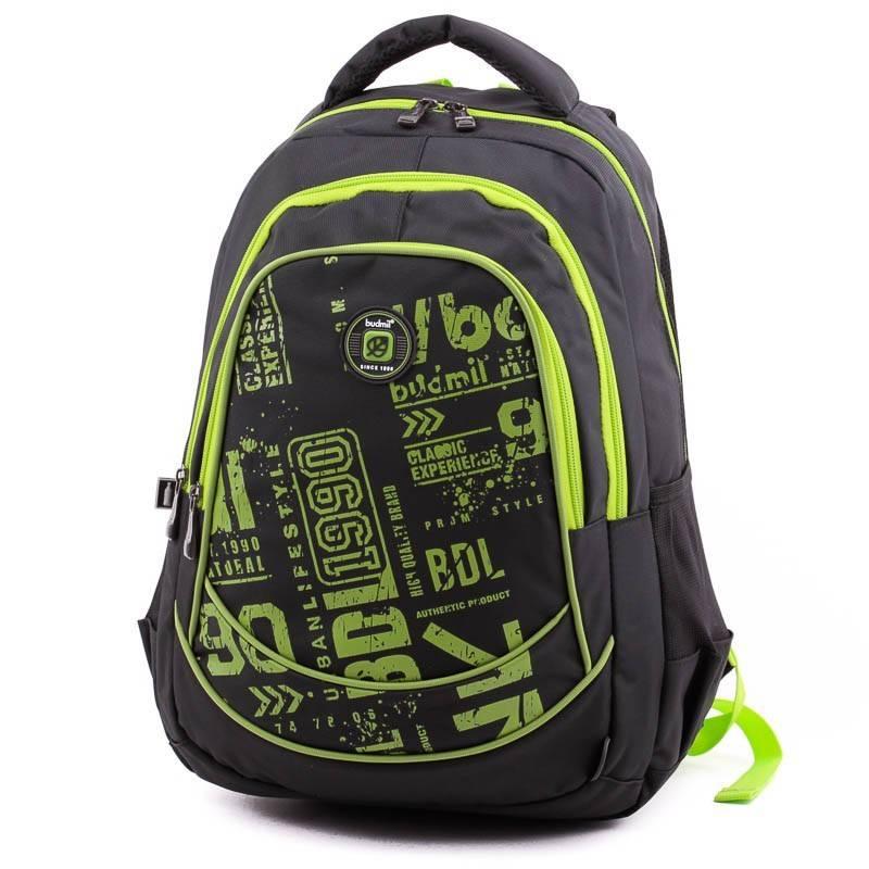 Budmil fekete-lime hátizsák