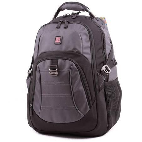 Budmil fekete-szürke laptoptartós hátizsák