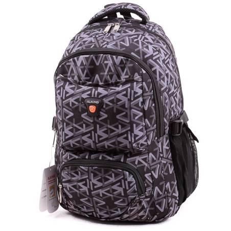 Auking fekete-szürke mintás laptoptartós hátizsák