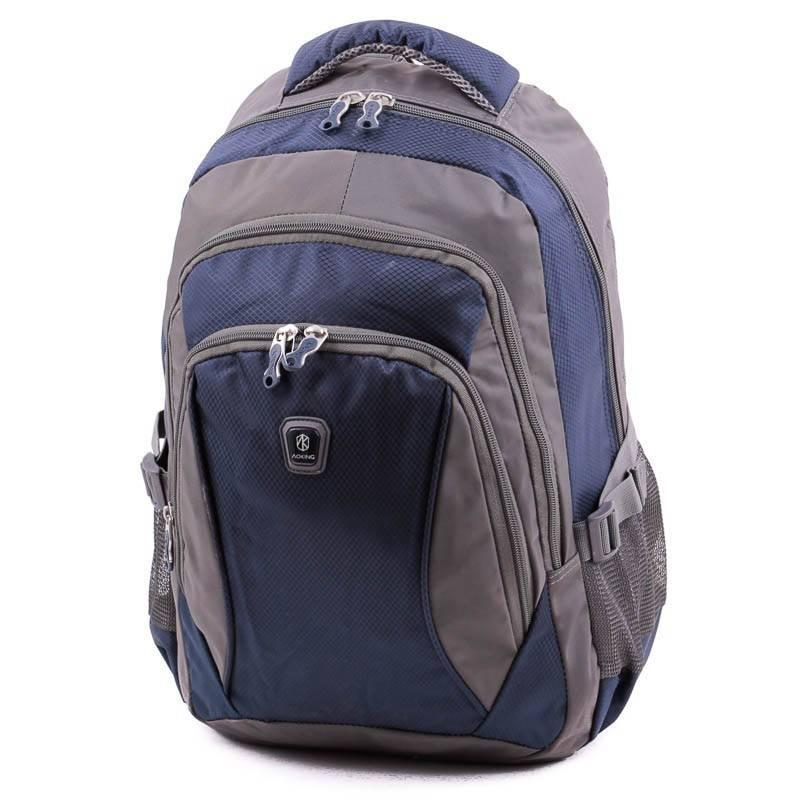 Aoking szürke-kék laptoptartós hátizsák