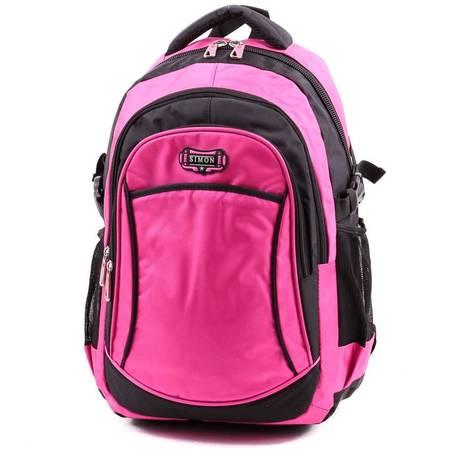 Simon fekete-pink hátizsák