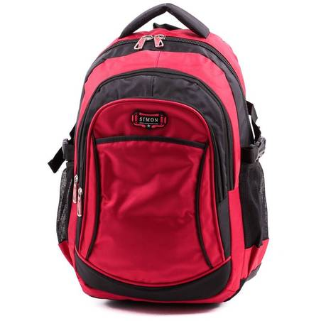Simon fekete-piros hátizsák
