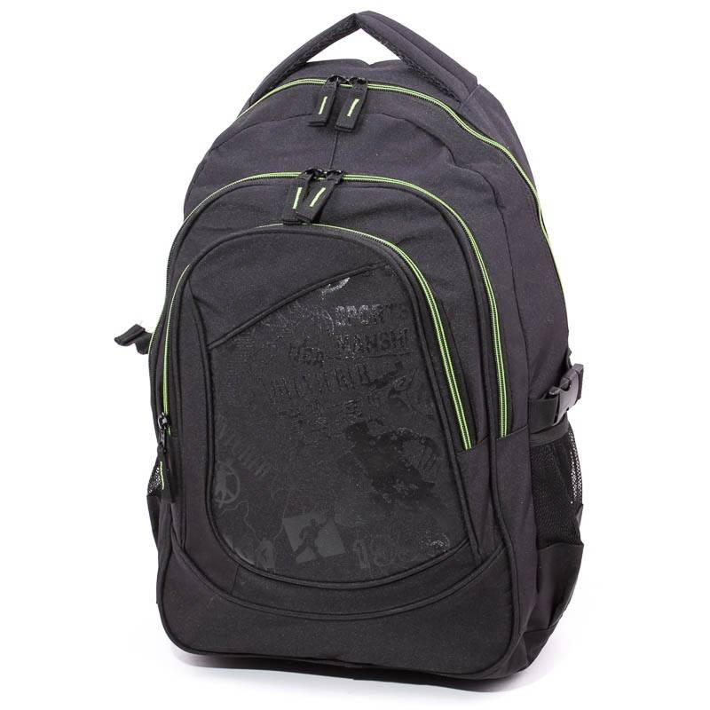 Adventurer fekete-zöld hátizsák
