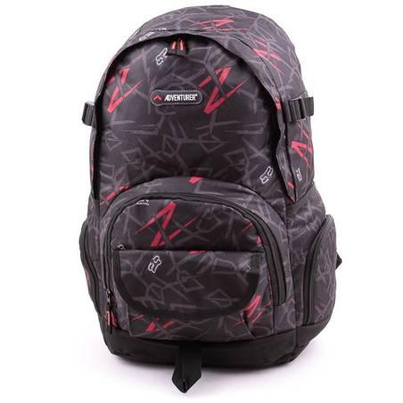 Adventurer fekete-piros hátizsák