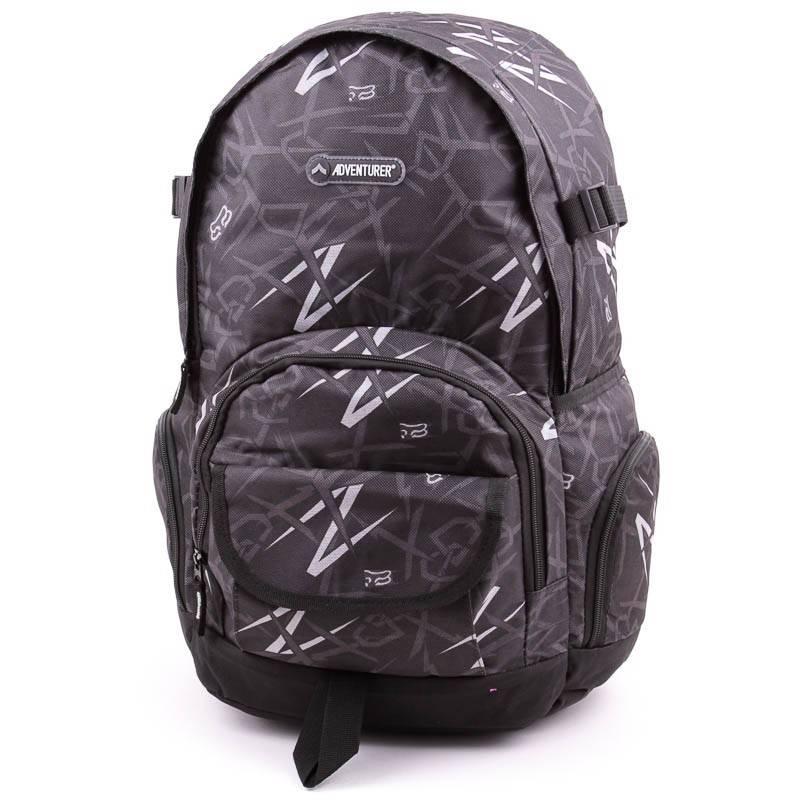 Adventurer fekete-szürke hátizsák