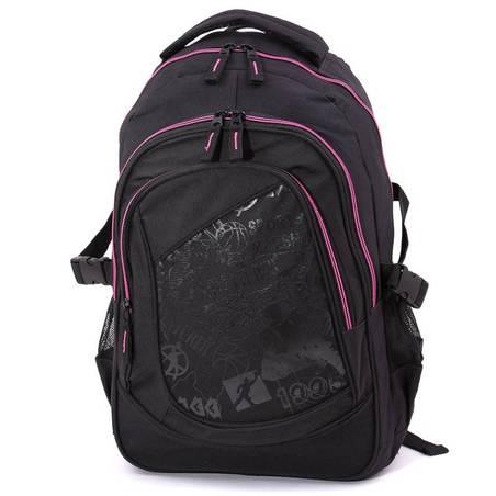 Adventurer fekete-pink hátizsák