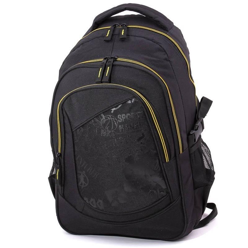 Adventurer fekete-sárga hátizsák