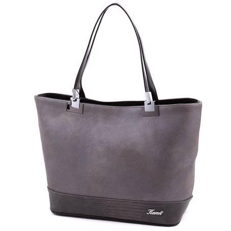 Karen ezüst színű rostbőr női táska