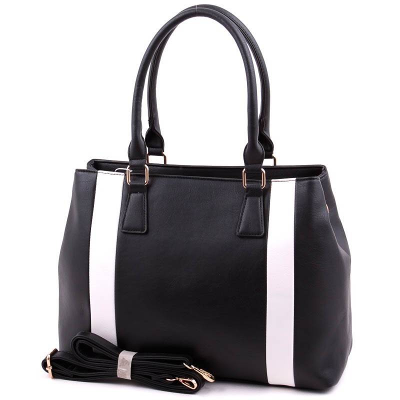 Run Fa fekete-fehér  női táska