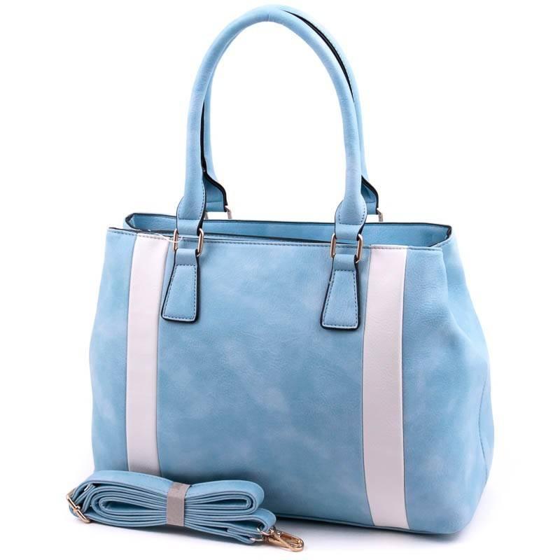 Run Fa kék-fehér  női táska