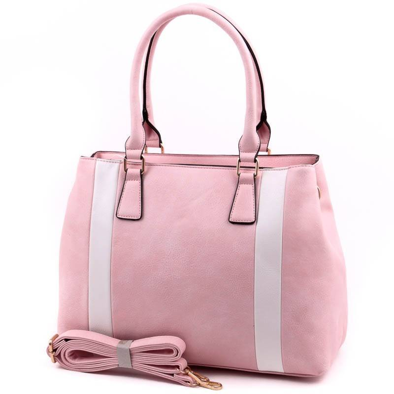 Run Fa rózsaszín-fehér női táska