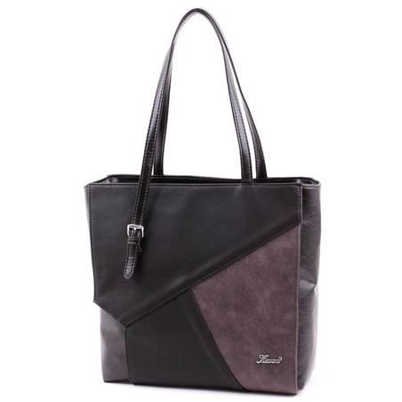 Karen fekete-barna rostbőr női táska
