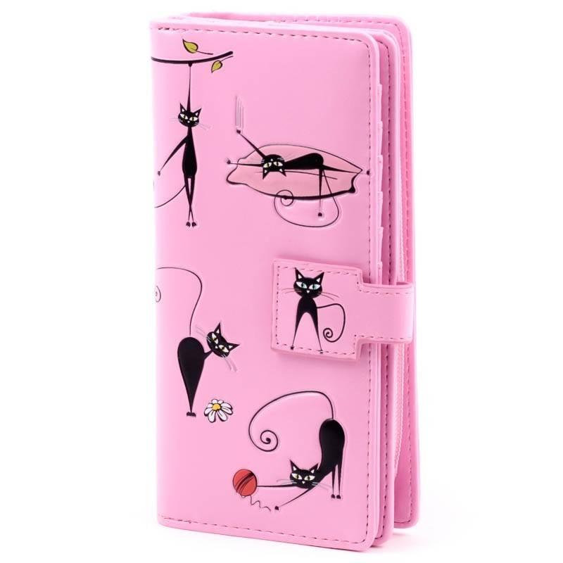Shagwear rózsaszín cica mintás pénztárca