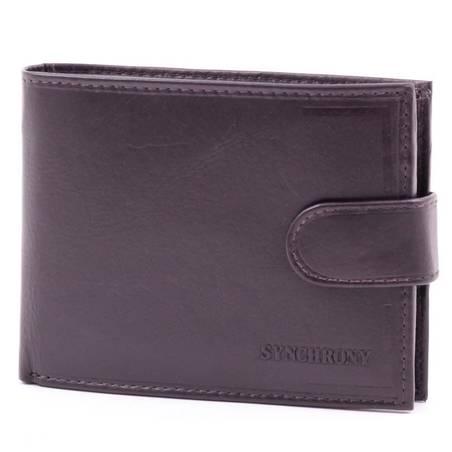 Synchrony férfi sötétbarna bőr pénztárca