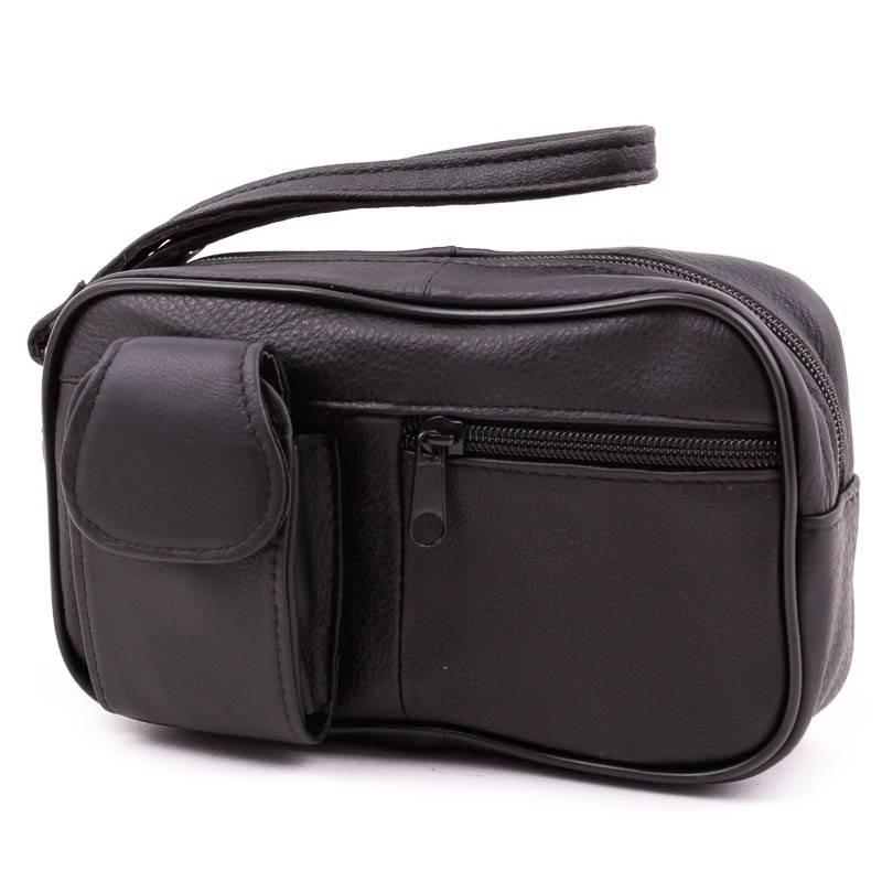 Fekete bőr autós táska
