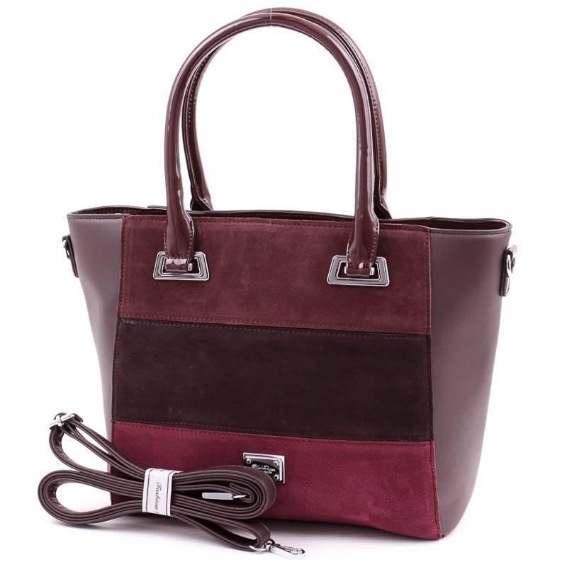 Silvia Rosa barna csíkos női táska