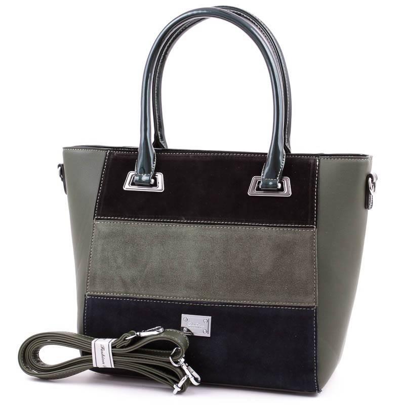 Silvia Rosa zöld csíkos női táska