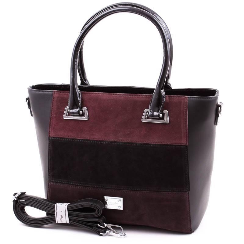 Silvia Rosa fekete csíkos női táska