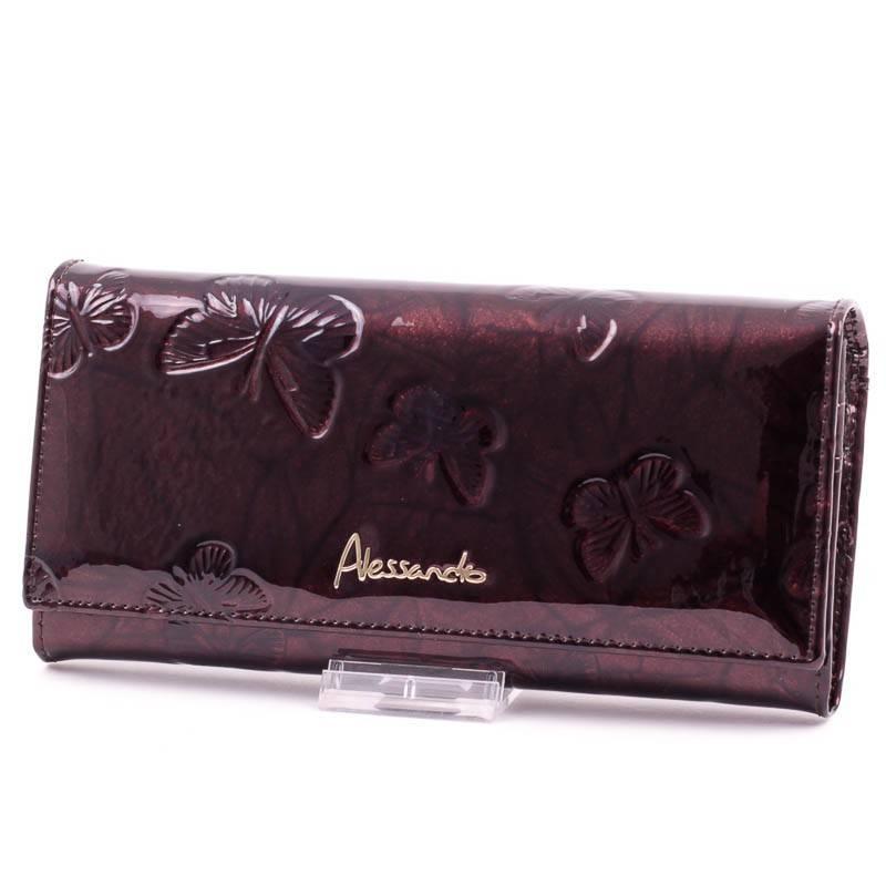 Alessandro Paoli barna lepkés női bőr pénztárca