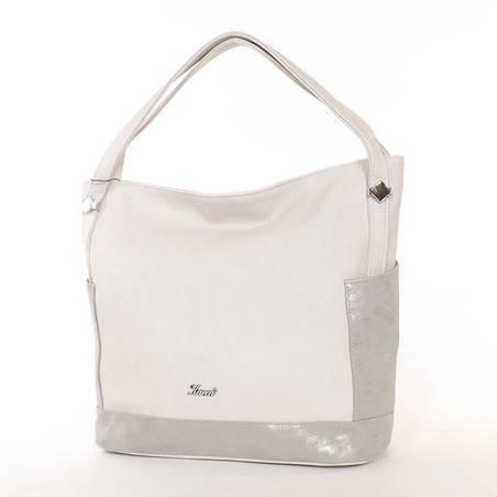Karen bézs-ezüst rostbőr női táska